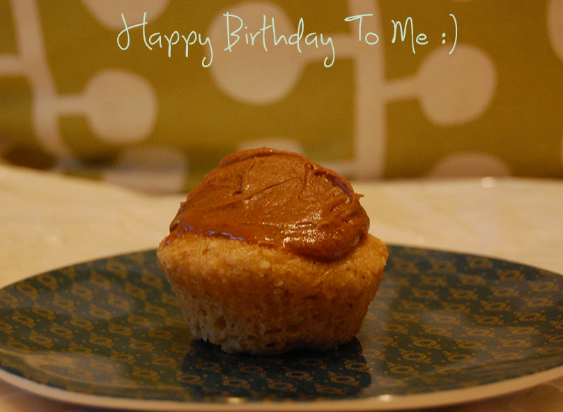 Vanilla (Birthday) Cupcakes with Caramel Butter Cream Frosting [Vegan/Gluten Free]