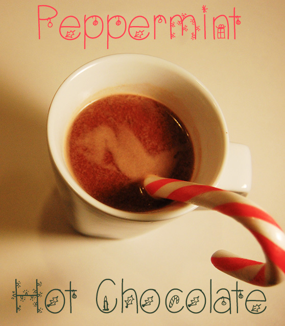 A Very Merry Christmas Peppermint Hot Chocolate [Vegan/Gluten Free]