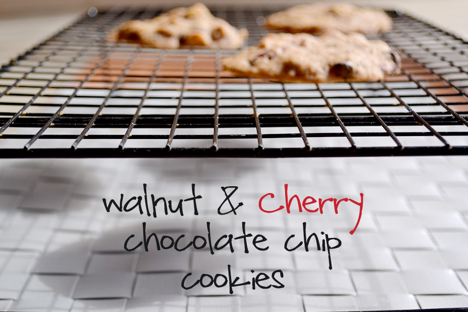 Walnut & Cherry Chocolate Chip Cookies [Vegan/Gluten Free]
