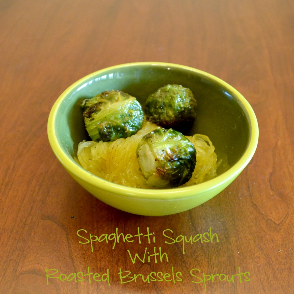 Spaghetti Squash with Roasted Brussels Sprouts [Vegan/Gluten Free]