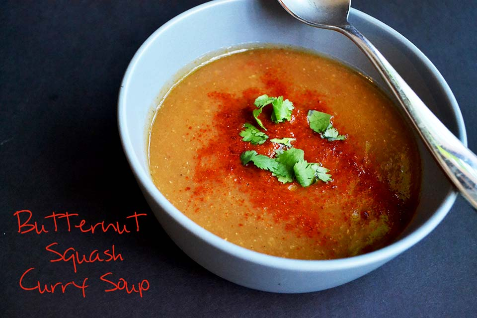 Butternut Squash Curry Soup [Vegan/Gluten Free]