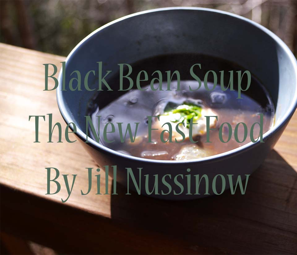 Black Bean Soup in the Instant Pot - From The New Fast Food